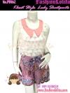 PB162 Kloset Style Shortpants กางเกงขาสั้นลายกระจกแก้วสไตล์ kloset มีซับใน ช่วงเอวเก๋ไก๋ ใส่ออกมาน่ารักมากๆ สีชมพู สำเนา