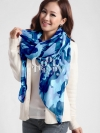 ผ้าพันคอลายทหาร Camo scarf : สี Blue army - ผ้าพันคอ cotton - size 180*100 cm