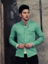 เสื้อเชิ้ตผู้ชายแฟชั่นจากzinif 3สีสด(ส้ม,เขียว,กรมท่า)(M,L,XL)