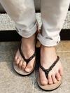 รองเท้าแตะแบบคีบสุดเท่แฟชั่นผู้ชายจากเกาหลีมี2สี