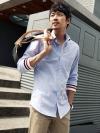 เชิ้ตแขนยาวปลายจั๊มทรงใหญ่แฟชั่นเสื้อผ้าผู้ชายเกาหลีมี2สี