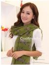 ผ้าพันคอลายม้าลาย Zebra scarf : Olive green size 180x80 cm