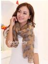 ผ้าพันคอลายม้าลาย Zebra scarf : Sand Brown size 180x80 cm