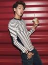 เสื้ื้อคอกลมแขนยาวจากเกาหลี 2สี(navy,gray) (M,L)