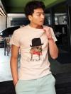 เสื้อยืดแฟชั่นลายสุนัขแชปรินสุดเท่จากเกาหลีมี3สี (L,XL)