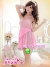 ชุดนอนซีทรูสีชมพูหวาน ๆ น่ารักค่ะ