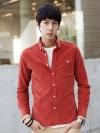 เสื้อShirtผู้ชายผ้าลูกฟูกจากzinif 5สี(ฟ้า,กรมท่า,เบจ,ส้ม,คากิ)(M,L,XL)
