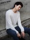 เสื้อแขนยาวเนื้อผ้าลายริ้วสุดแนวแฟชั่นชายจากเกาหลีมี3สี