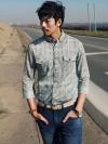 เชิ้ตแขนยาวสไตล์วินเทจแฟชั่นเสื้อผ้าผู้ชายจากเกาหลี