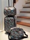 """พร้อมส่ง / กระเป๋าเดินทาง เซท 3 ใบ ขนาด 18"""" 14"""" 12"""" วัสดุผ้าเคลือบpvc โครงแข็ง กันน้ำ ใช้ง่าย ซิปรอบ"""