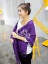 ผ้าพันคอ ผ้าคลุมพัชมีนา Pashmina scarf size 160*60 cm - สีม่วง