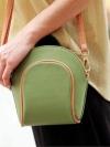 พร้อมส่ง / กระเป๋าแฟชั่นใบเล็ก สีเขียว