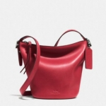 Coach Bleecker Mini Duffle Bag in Glove Tanned Leather # 32281 สี Red