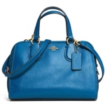 COACH MINI NOLITA SATCHEL IN LEATHER # 33735 สี LI/DENIM