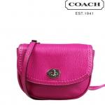COACH PARK LEATHER MINI CROSSBODY BAG # 49872 สี BRIGHT MAGENTA