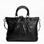 Coach Ashley Leather tote # 15444 สี Silver/Black