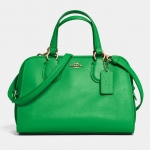 COACH MINI NOLITA SATCHEL IN LEATHER # 33735 สี GREEN