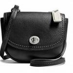 COACH PARK LEATHER MINI CROSSBODY BAG # 49872 สี BLACK