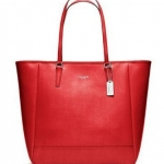 COACH SAFFIANO NORTH/SOUTH CITY TOTE # 23821
