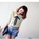 ♥พร้อมส่ง♥ เสื้อผ้าฝ้าย สีม่วง ไซส์ 47