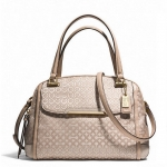 COACH MADISON OP ART PEARLESCENT SMALL GEORGIE SATCHEL # 30406