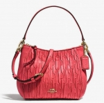Coach Madison Top Handle Bag in Gathered Leather # 51908 สี Loganberry