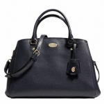 Coach Margot Crossgrain Leather Carryall # 34607 สี BLACK