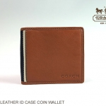 COACH HERITAGE WEB LEATHER ID COIN WALLET # 74617