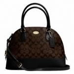 COACH SIGNATURE CORA DOMED SATCHEL SHOULDER BAG # 33904