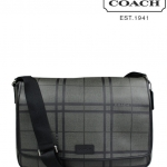 Coach Men's Tattersall PVC Messenger Bag # 71063