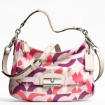 COACH KRISTIN CHAIN LINK PRINT EAST-WEST CROSSBODY/PURSE HANDBAG # 22743 SV/2M