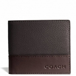 Coach Camden Leather Coin Wallet Wallets # 74637 สี MAHOGANY