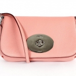 Coach liv pouch crossbody in pebble leather # 52896 สี Pink