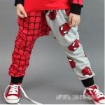 กางเกงขายาว spiderman *แดง-เทา* 5 ตัว/แพค *ส่งฟรี*