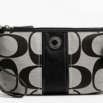 Coach Signature Stripe Large Wristlet # 49518