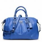 Coach new madison leather juliette # 21222 สี Silver/Cobalt