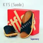 **พร้อมส่ง** รองเท้า FitFlop KYS (Suede) : Supernavy : Size US 7 / EU 38