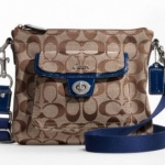 COACH SIGNATURE POCKET SWINGPACK # 45026 สี Khaki Navy