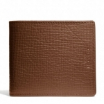 Coach Men Crosby Compact ID Wallet Grain Textured Leather # 74672