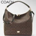 COACH CELESTE CONVERTIBLE HOBO IN SIGNATURE CANVAS # 34910 สี LIGHT GOLD/BROWN/BLACK