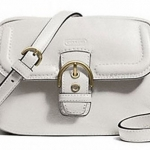 COACH CAMPBELL LEATHER CAMERA BAG # 25150 สี IVORY