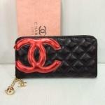 กระเป๋าสตางค์ Chanel มาใหม่ ซิปเดียวแบบยาว งานสีสันสวยงาม หนังนิ่ม  ขนาด  4x 7.5  นิ้ว