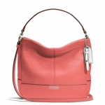 COACH PARK LEATHER MINI DUFFLE CROSSBODY # 49160 สี Silver /Tearose