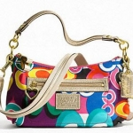 COACH DAISY POP C PRINT SWINGPACK CROSSBODY BAG GLITTER GLAM # 20039 สี B4/Multicolor