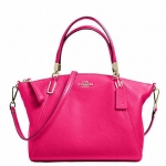 COACH PEBBLE LEATHER SMALL KELSEY SATCHEL # 34493 สี PINK RUBY