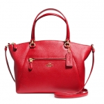 COACH PRAIRIE SATCHEL IN PEBBLE LEATHER # 34340 สี LIGHT GOLD/RED