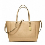 Coach Crossbody City Tote In Saffiano Leather # 23578 สี CAMEL