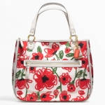 Coach Poppy Floral Print Hallie East West Tote #  22442