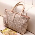 *พรีออเดอร์* กระเป๋าแฟชั่น Xiaocai หนังPUพิมพ์ลาย ทรงShoping Bag สีสวยสดใส พร้อมกระเป๋าสตางค์ใบเล็ก