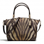 COACH MADISON SMALL KELSEY SATCHEL IN ZEBRA PRINT FABRIC # 28093